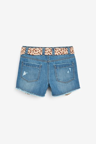 Dark Blue Pocket Shorts With Tie Belt (3-16yrs)