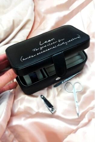 Personalised Dirty Weekend Travel Grooming Box by Solesmith