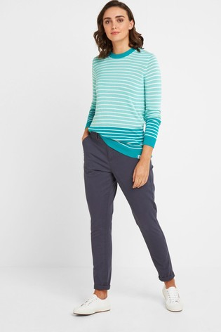 Tog 24 Blue Pickering Womens Long Chino Trousers