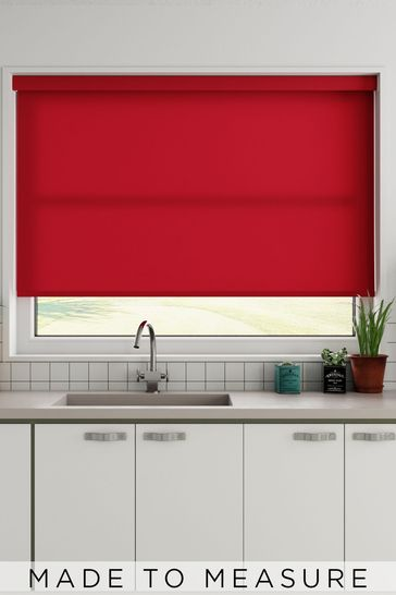 Margot Chilli Red Made To Measure Light Filtering Roller Blind