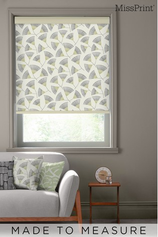 Persia Reeds Green Made To Measure Roller Blind by MissPrint