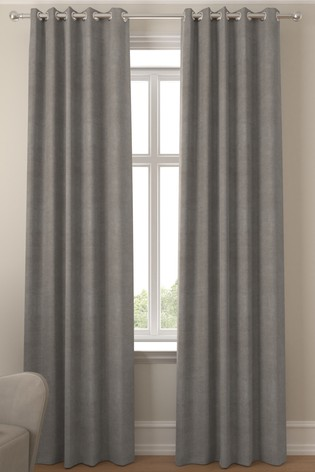 Soft Velour Dove Grey Made To Measure Curtains