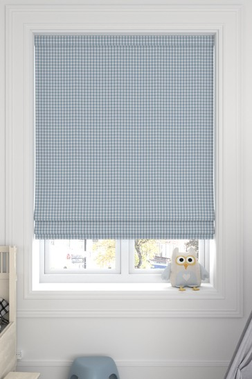 Melrose Sky Blue Made To Measure Roman Blind