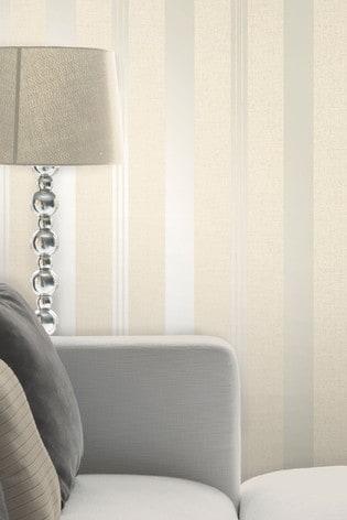 Fine Décor Champagne Quartz Stripe Wallpaper