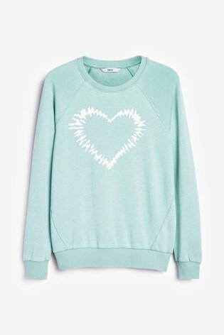 Heart Mint Graphic Sweatshirt
