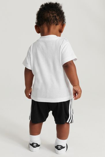 adidas Originals Infant Black/White Trefoil T-Shirt And Short Set
