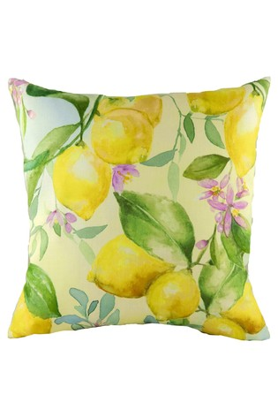 Hand Painted Lemons Cushion by Evans Lichfield