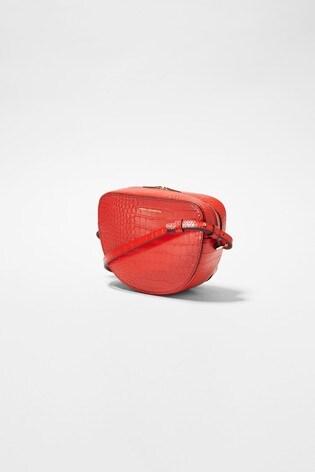 French Connection Pink Talin Mini Half Moon Crossbody Bag