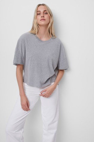 French Connection Grey Tally Jersey Crew Neck T-Shirt