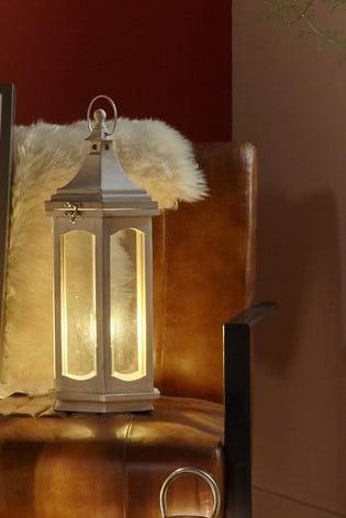 Pacific Adaline Wood Lantern Table Lamp
