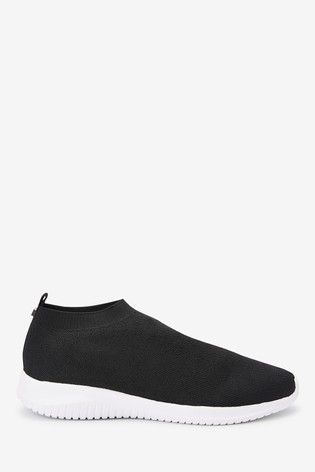 Black Fly Knit Sock Trainers