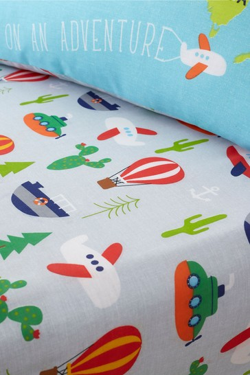 Animal Adventure Easy Care Fitted Sheet by Catherine Lansfield