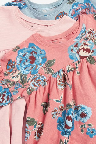 Floral 3 Pack Tunic Tops (3mths-7yrs)