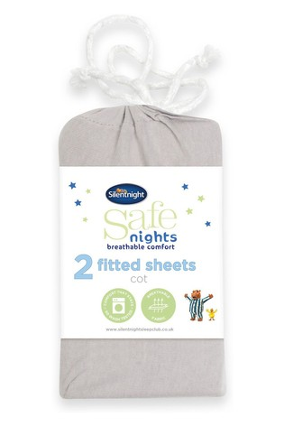 Safe Nights Cot Fitted Sheet by Silentnight