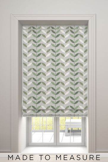 Bailey Green Made To Measure Roman Blind