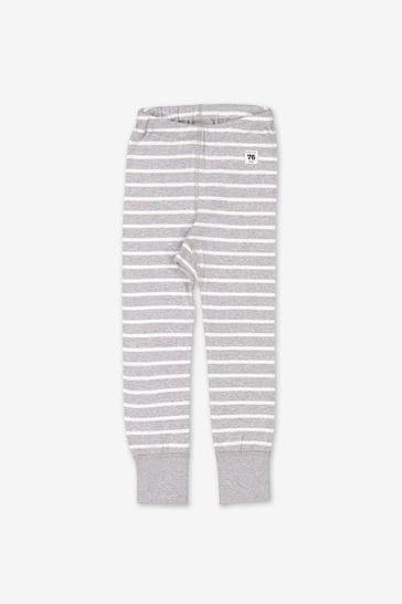 Polarn O. Pyret Grey GOTS Organic Striped Leggings
