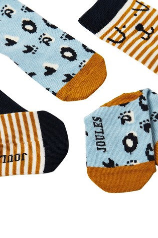 Joules No Colour Neat Feet 2 Pack Character Baby Socks