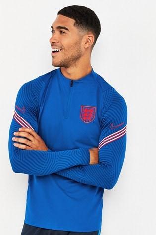 Nike Blue England Strike Drill Top