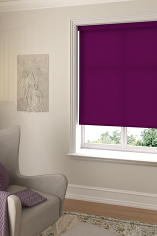 Asher Plum Purple Made To Measure Light Filtering Roller Blind