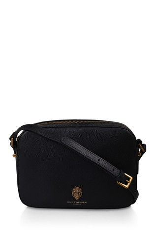 Kurt Geiger London Black Leather Richmond Cross Body Bag