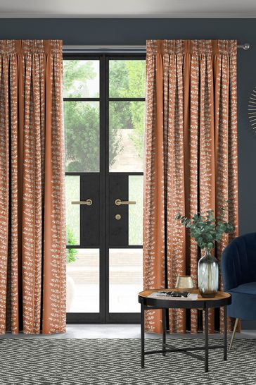 Wray Terracotta Orange Made To Measure Curtains
