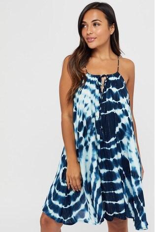 Accessorize Blue Tie Dye Swing Dress
