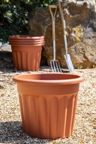 Set of 5 Wham Vista 50cm Plastic Round Planters