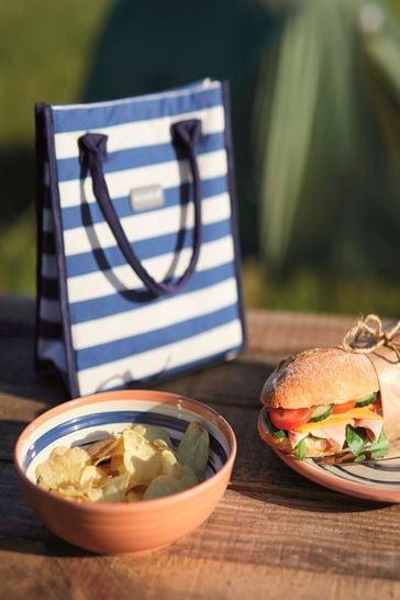 Kitchencraft Tote Blue Stripe Coolbag
