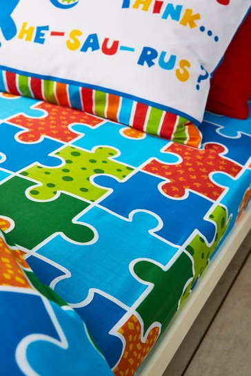 Dinosaw Fitted Sheet by Catherine Lansfield