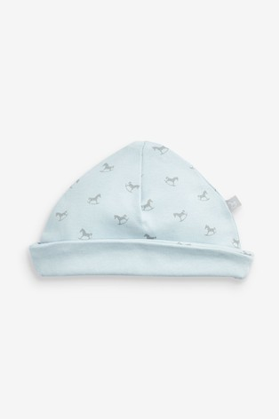 The Little Tailor Blue All Over Print Rocking Horse Jersey Hat