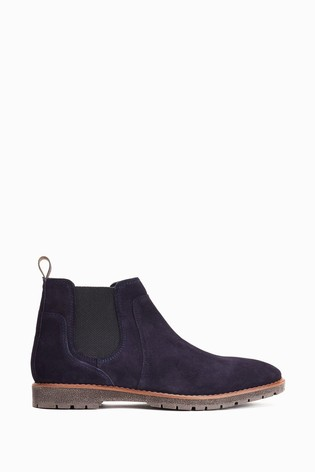 Base London Navy Zimmer Chelsea Boots
