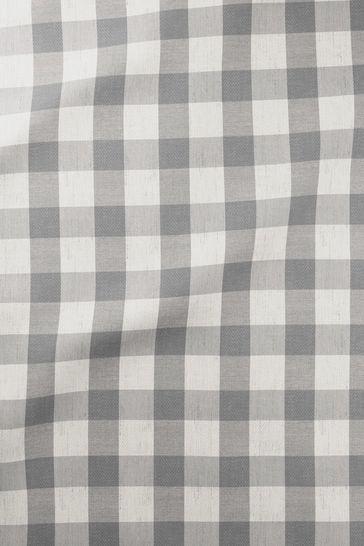 Gingham Granite Grey Made To Measure Roller Blind