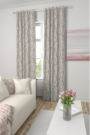 Delicate Willow Red Made To Measure Curtains