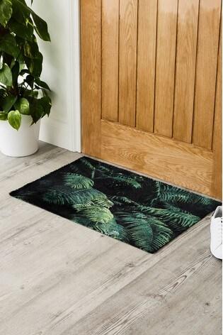 Pride Of Place Hale Rainforest Leaves Washable Doormat