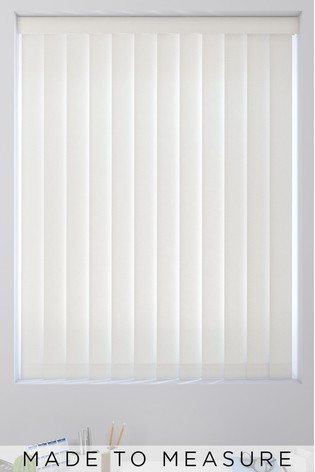 Chalk White Textured Made To Measure Vertical Blind