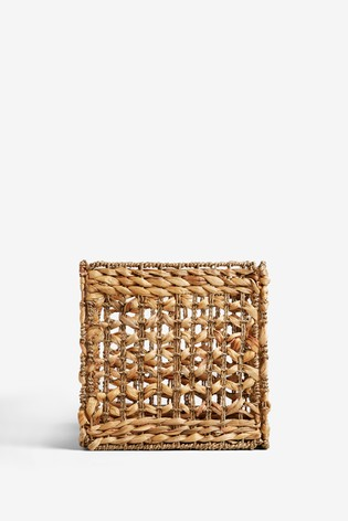 Plaited Seagrass Folding Cube
