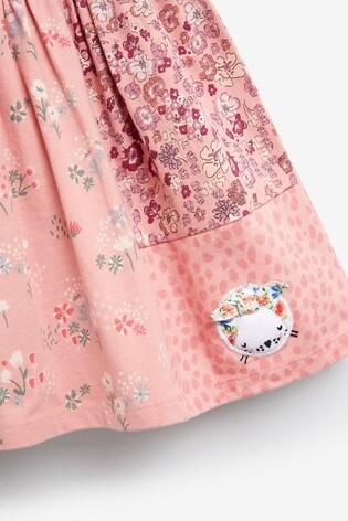 Pink Cat Patchwork Dress (3mths-7yrs)