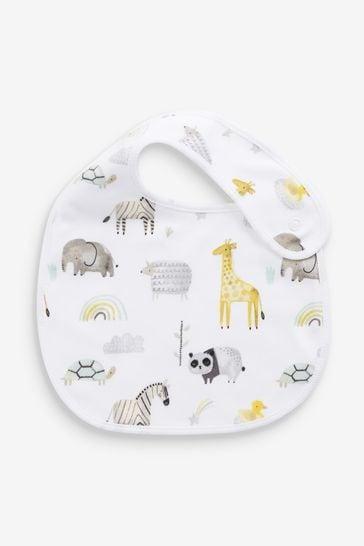 Ecru 3 Pack Cotton Safari Bibs