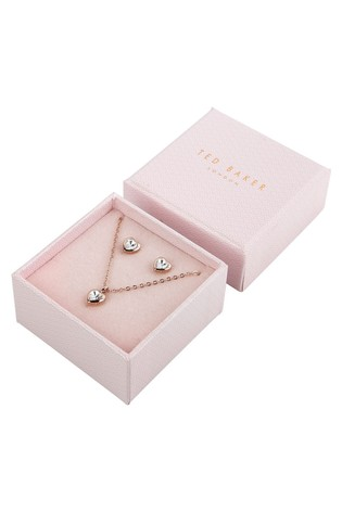 Ted Baker Rose Gold Hadeya Crystal Heart Gift Set