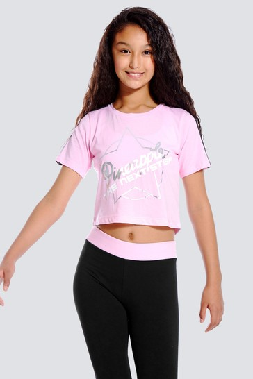 Pineapple Pink The Next Step Cropped T-Shirt
