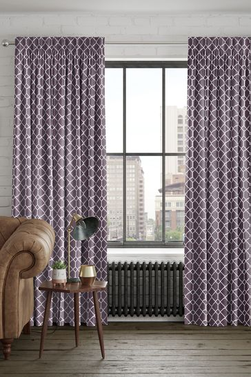 Earle Berry Purple Made To Measure Curtains