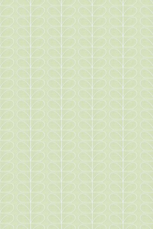 Woven Linear Stem Olive  Green Made To Measure Roller Blind by Orla Kiely