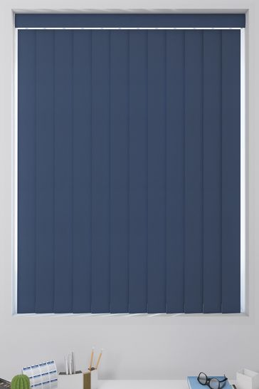 Canvas Indigo Blue Made To Measure Vertical Blind