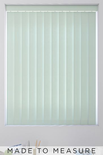Canvas Duck Egg Blue Made To Measure Vertical Blind
