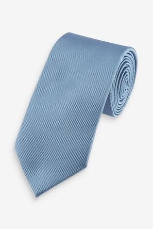 Light Blue Wide Twill Tie