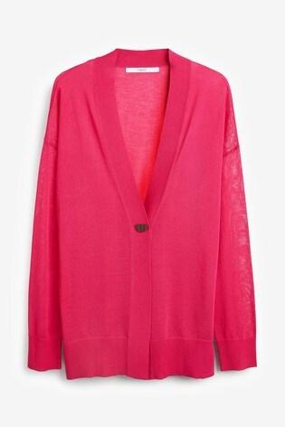 Pink Button Detail Cardigan
