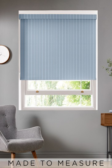 Woven Tiny Stem Cool Grey Made To Measure Roller Blind by Orla Kiely