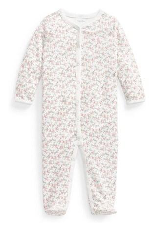 Polo Ralph Lauren® Pink Floral Babygrow
