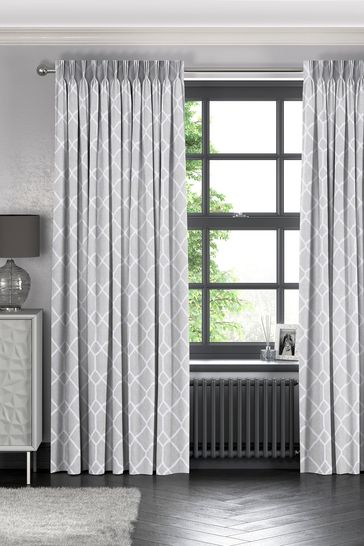 Earle Silver Grey Made To Measure Curtains
