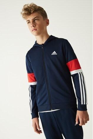adidas Navy/Red Full Zip Hoody
